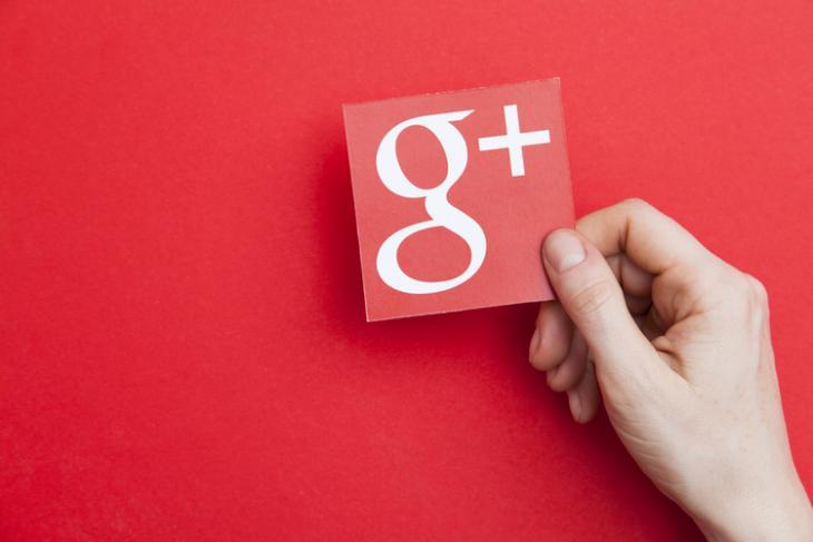 Google Plus Shutterstock website