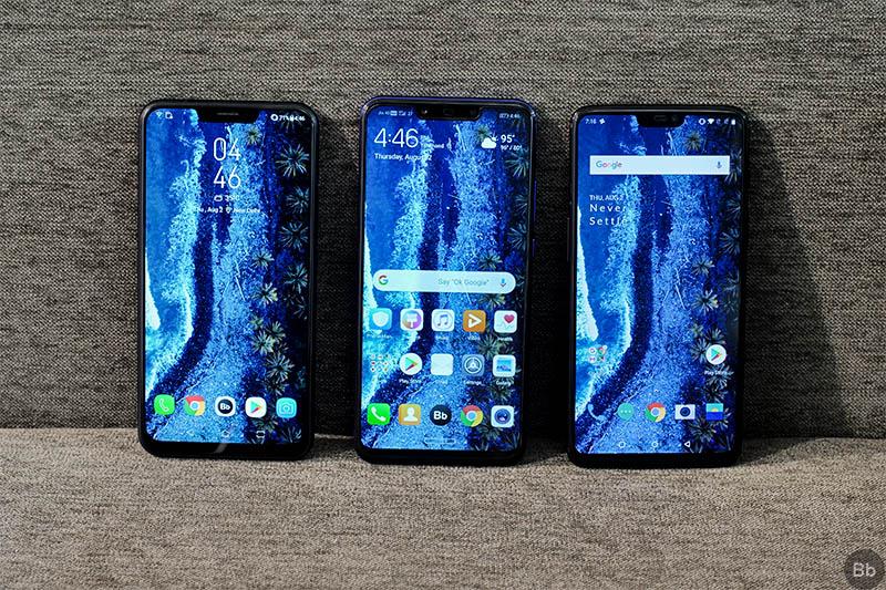 Huawei Nova 3 vs OnePlus 6 vs ZenFone 5Z