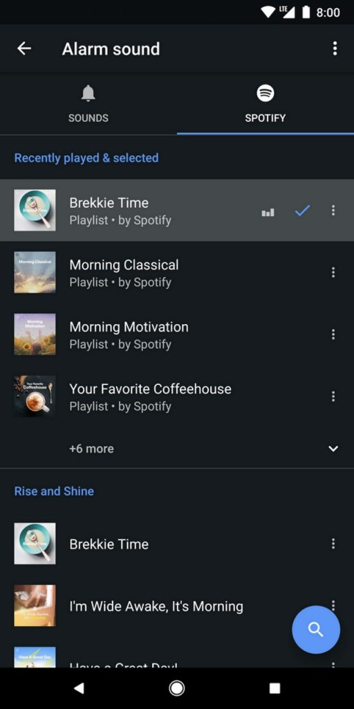 You Can Now Sync Spotify Playlists To Your Alarms in Google's Clock App