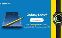 Galaxy Note 9 pre-order offer, Gear sport smartwatch