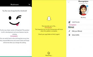 snapchat redesign android