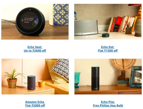 amazon echo discounts