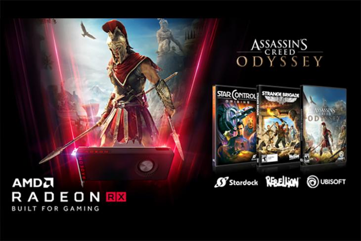 AMD is Giving Assassin's Creed Odyssey, Star Control: Origins and Strange Brigade Free With Radeon RX GPU