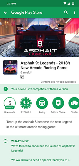 Poco F1 Users Unable to Download Asphalt 9, Recent OTA Likely to be Blamed