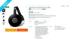 chromecast deal flipkart web image