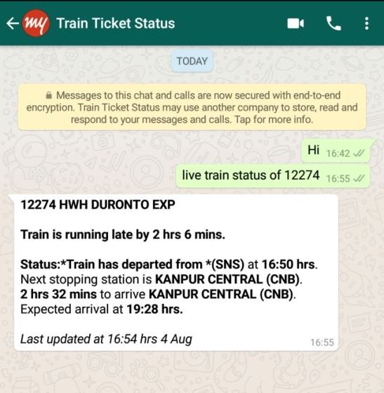 Here's How You Can Check Your IRCTC PNR and Train Status on WhatsApp