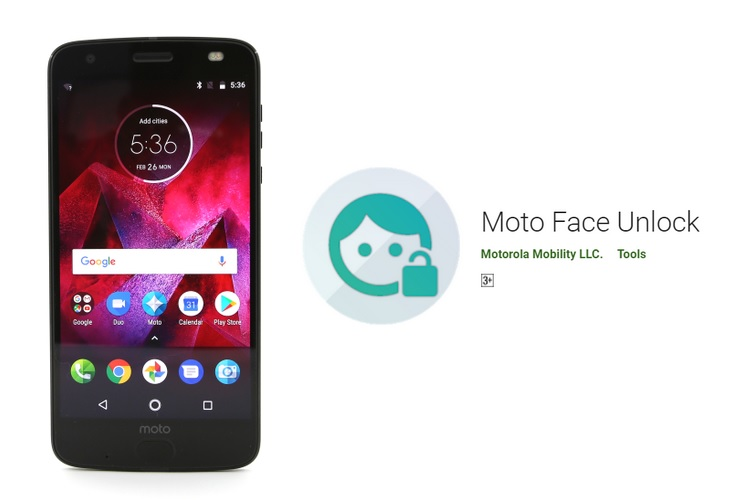 Motorola Releases Moto Face Unlock Companion App on Play Store | Beebom