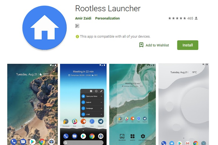 Rootless Pixel Launcher Hits The Play Store, With Companion App for