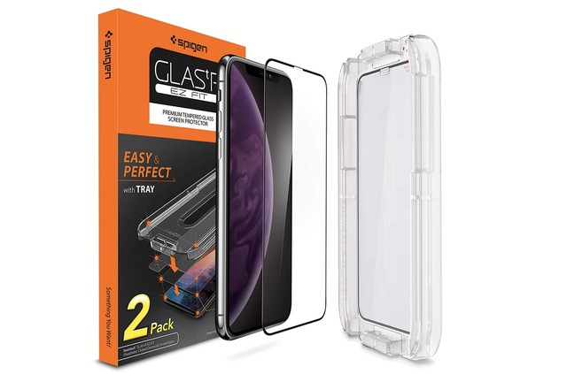 1. Spigen Tempered Glass Screen Protector for iPhone XS Max