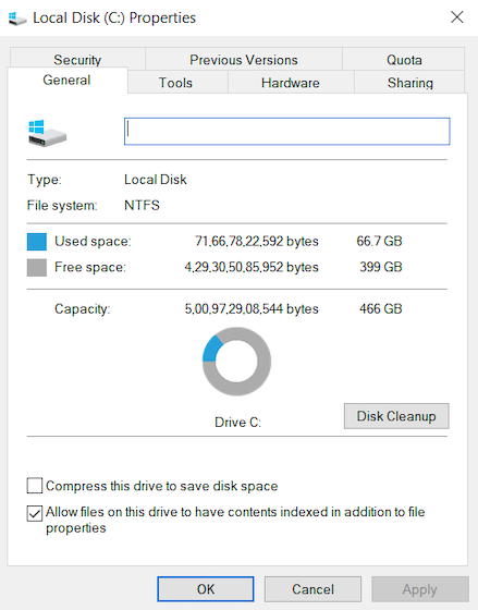 1.Disk Cleanup