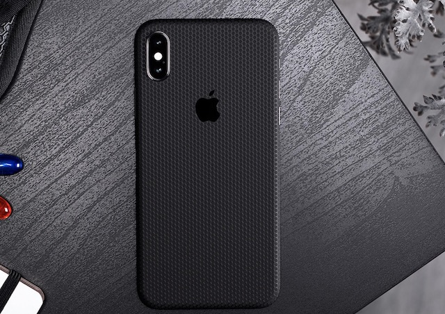 2. Dbrand Black Matrix Skin for iPhone XS