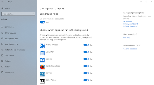 4. Disable Background Apps