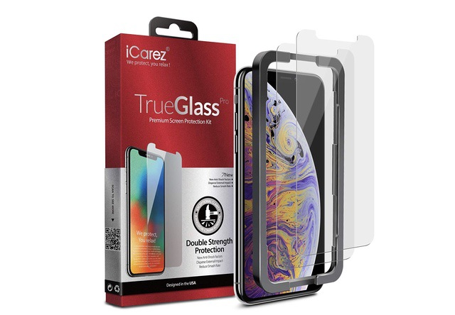 9. iCarez Tempered Glass for iPhone XS Max