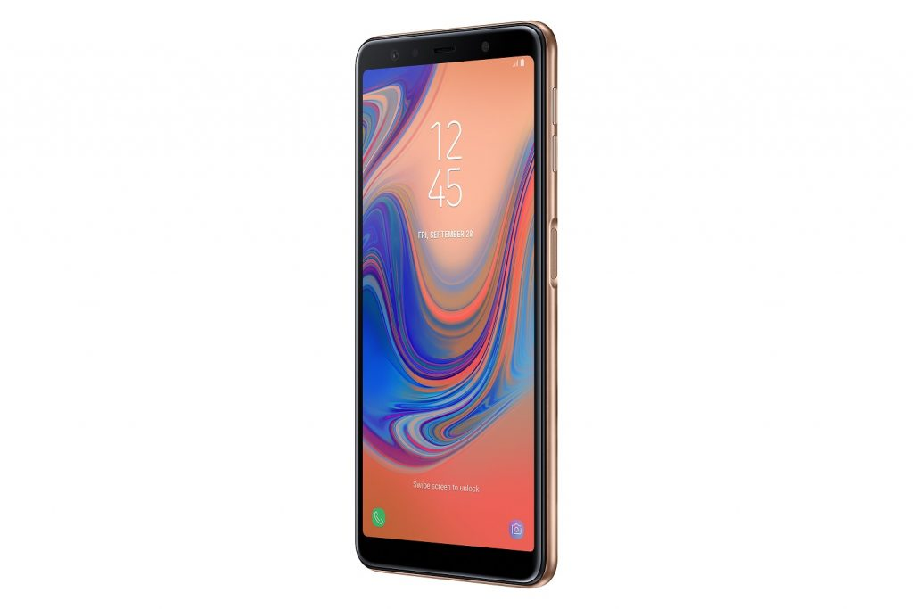 Side-mounted fingerprint scanner on the Galaxy A7