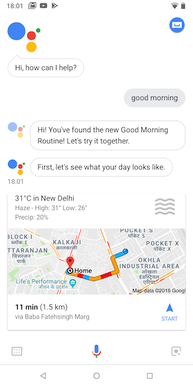 Google Assistant daily briedf