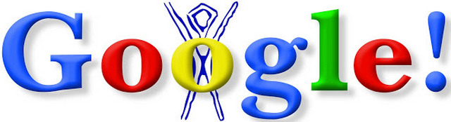The first Google Doodle