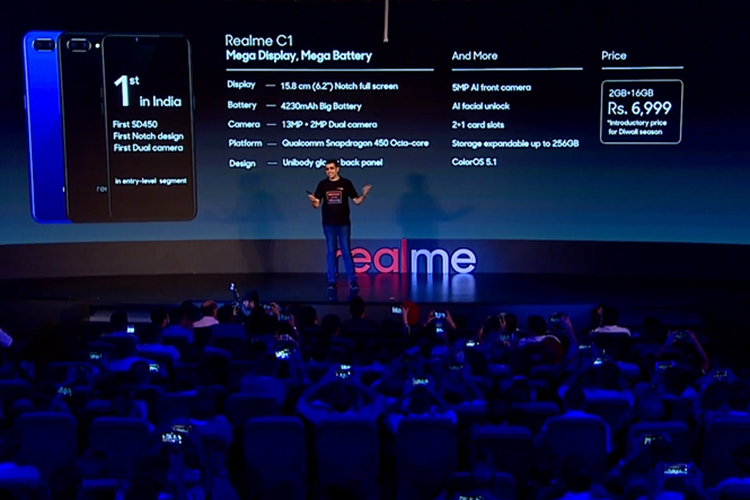 Realme Launches Entry-Level Realme C1 For Just Rs  6,999