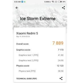 3DMark Ice Storm Extreme (Redmi 5)
