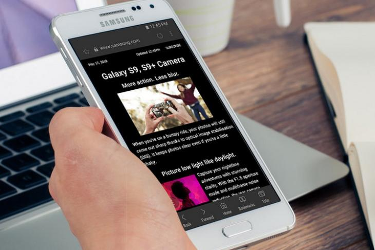Samsung Internet Browser version 8.2 website