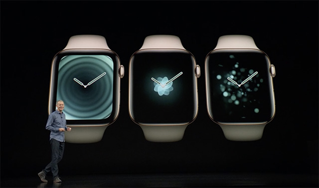 There are also some new dynamic watch faces in the Apple Watch Series 4 designed to take full advantage of the new display and the curved corners.
