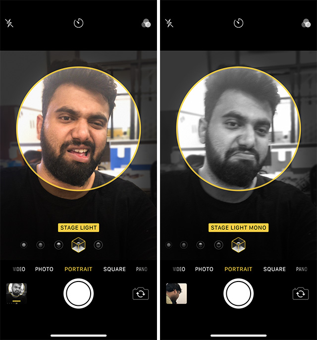 iPhone XS Brings Live Previews for Portrait Lighting Effects in the Camera App