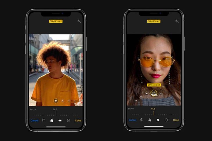 iphone xs depth control in camera