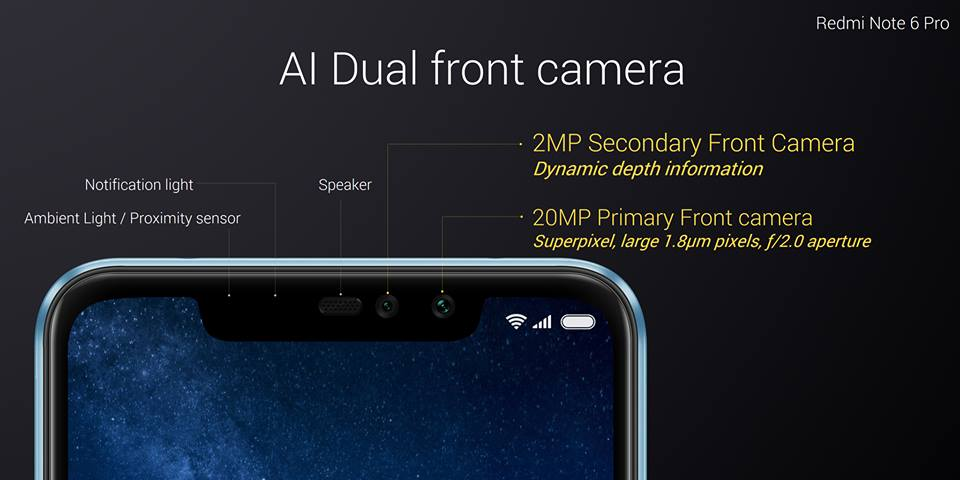 Redmi Note 6 Pro is the First Xiaomi Phone With Dual Selfie Cameras