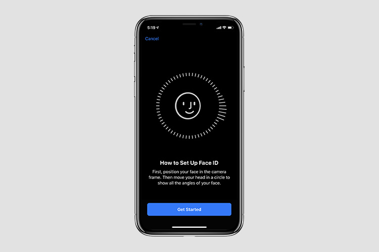 set up second face face id ios 12