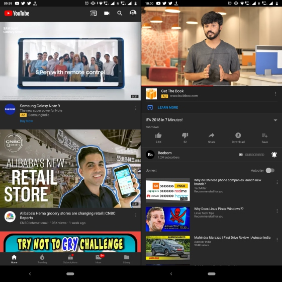 YouTube Finally Rolling Out Dark Theme To All Android Devices