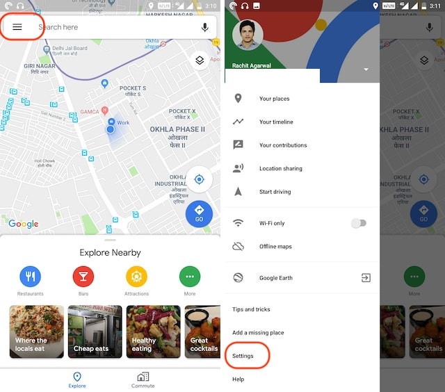 1. Enabling Dark Mode in Google Maps on Android