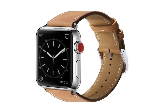 3. MARGE PLUS Leather Band for Apple Watch Series 4