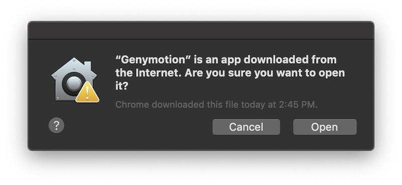 Genymotion installation
