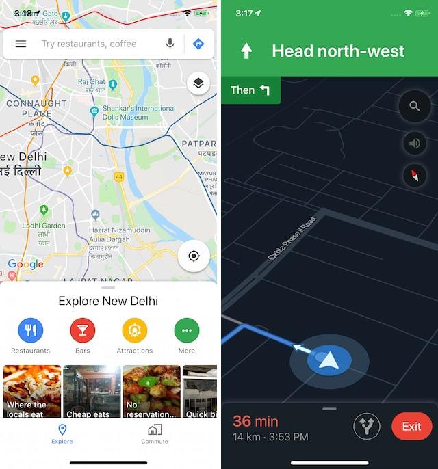 6 Enabling Dark Mode in Google Maps on iPhone