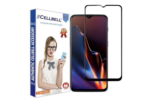 7. CELLBELL OnePlus 6T Tempered Glass Screen Protector