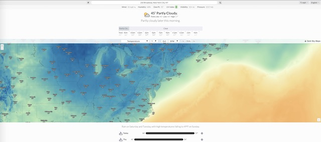 8. Google Weather