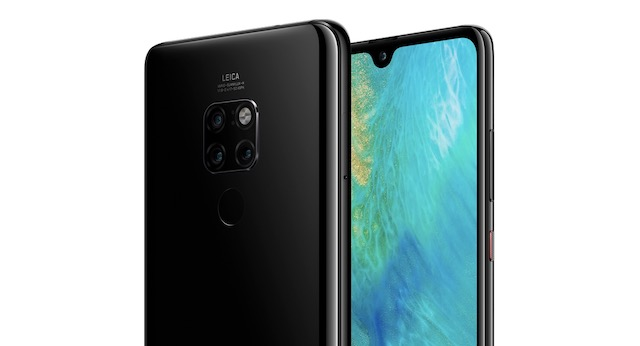 Huawei Mate 20's dewdrop notch