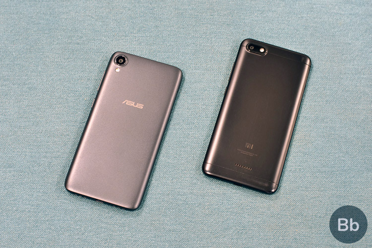 zenfone lite vs redmi 6a rear