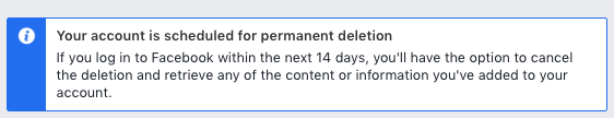 facebook permanent deletion
