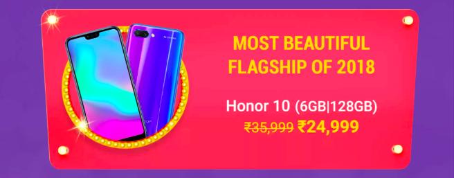 Great Deals on Honor 7A, Honor 9N, Honor 10 In Flipkart Big Billion Days Sale