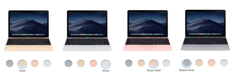 macbook air colors