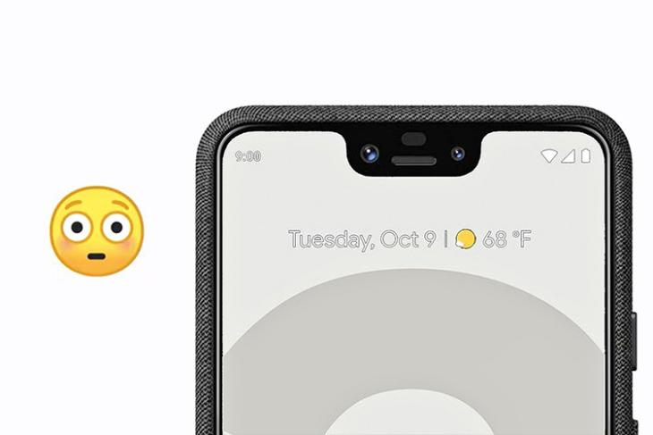 pixel 3 notch emoji