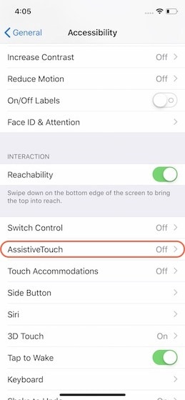 7. Take Screenshot with Accessibility Features