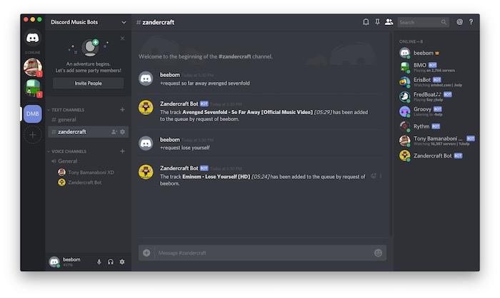Discord Music Bots: Zandercraft