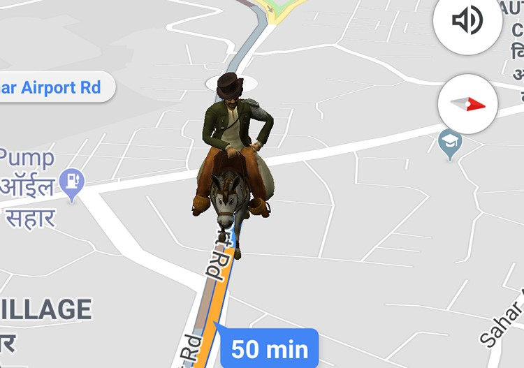 you can now navigate on google maps with aamir khan s firangi from thugs of hindostan beebom google maps with aamir khan s firangi