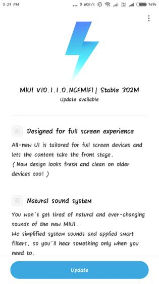 redmi note 4 miui 10 update