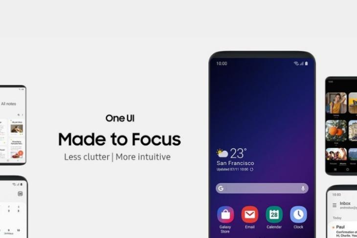 Samsung one UI software focus over hardware