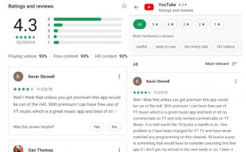 play store UI changes