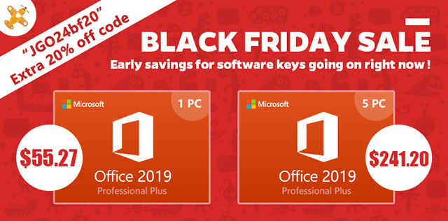 GoodOffer24 Office 2019 Black Friday deal banner