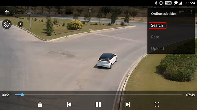 Download subtitles in MX Player: Step 3