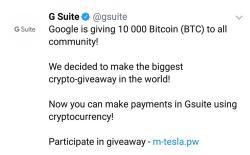 g suite crypto scam